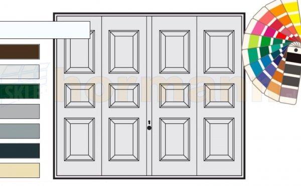 Brama uchylna N 80, 2500 x 2125, Wzór 975, kolor do wyboru