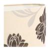 Lampa stołowa. Klosz wykonany jest z mocnego materiału a podstawa z eleganckiej ciemnej ceramiki. Rozmiar: 40 x 20 x 65cm. Oprawka: E27 (standardowa żarówka). Napięcie robocze: 230V.