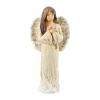 Figura gipsowa 'Anioł'. Kolor biały. Wysokość 32.5 cm.