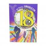 Kartka Z Okazji 18 Urodzin, kolor żółty, tańczące dziewczyny