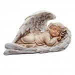 Aniołek leżący na skrzydle