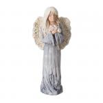 Anioł gipsowy, kolor niebieski, wysokość 32.5 cm