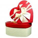 Komplet 3 pudełek prezentowych w kształcie serca