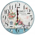 Zegar ścienny drewniany, family