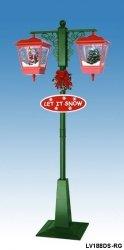 Duża podwójna lampa bożonarodzeniowa z mikołajem i choinką