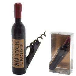 Otwieracz do wina w kształcie butelki, 80-urodziny