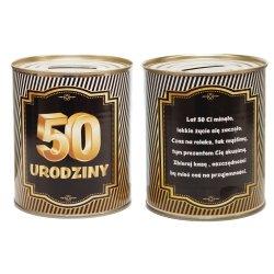 Skarbonka metalowa urodzinowa 50