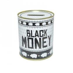 Puszka Skarbonka BLACK MONEY BIAŁO CZARNA