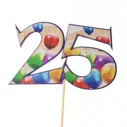 Cyfra ozdobna pik 25 balony 3szt/kpl