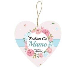 Drewniana tabliczka z napisem Kocham Cię Mamo wszystkiego najlepszego