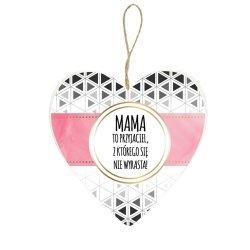 Drewniana tabliczka Mama to przyjaciel z którego się nie wyrasta