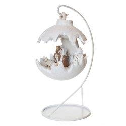 Kula świąteczna mała LED/szopka - biały