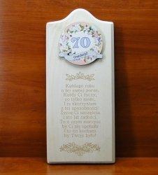 Deska Życzenia urodzinowe 70