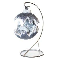 Kula świąteczna mała LED/kościół - stalowy