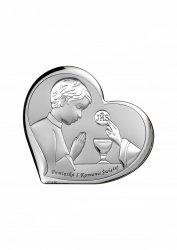 Obrazek srebrny Pamiątka Pierwszej Komunii Świętej