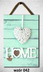 Drewniana tabliczka MDF Home