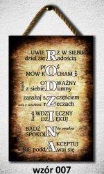Drewniana tabliczka MDF Rodzina...
