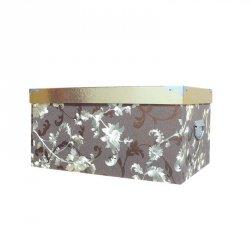 Komplet 10 pudełek z metalowymi rogami i uchwytami