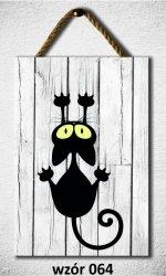 Drewniana tabliczka MDF, kotek