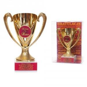 Puchar plastikowy w ozdobnym opakowaniu Kocham Cię Mamo - życzę Ci Mamo sto lat zycia...