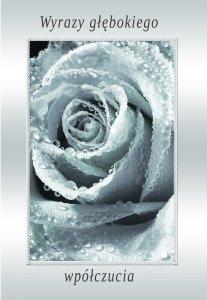 Kartka z kondolencjami 'Wyrazy głębowkiego współczucia'