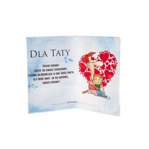 Ramka plexi Dla Taty - tatusiu kochany często tak bardzo zapracowany... 20x15 cm