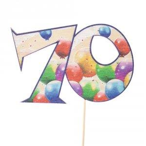 Cyfra ozdobna pik 70 balony 3szt/kpl