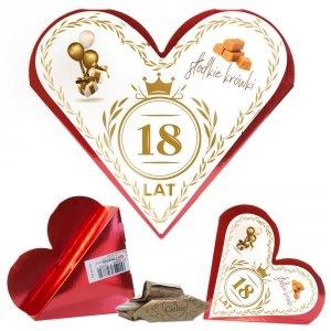 Serce słodkie krówki 18 urodziny