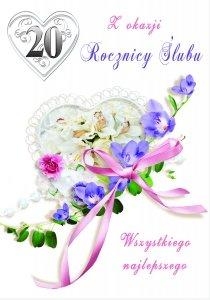 Kartka Z Okazji 20  Rocznicy Ślubu