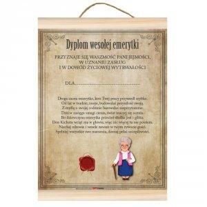 Dyplom wesołej emerytki