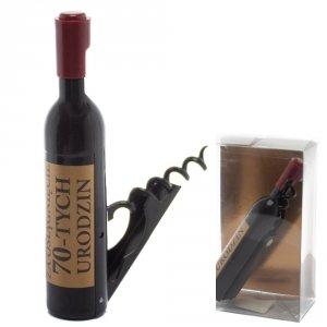 Otwieracz do wina w kształcie butelki, 70-urodziny