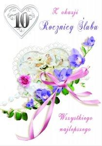Kartka Z Okazji 10  Rocznicy Ślubu