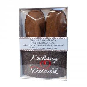 Zestaw prezentowy z ręcznikiem Kachany Dziadek i kapciami - mix kolorów w ozdobnym opakowaniu