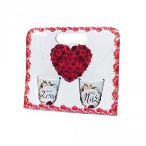 Komplet dwóch kubków w ozdobnym opakowaniu Idealna Żona, Idealny Mąż