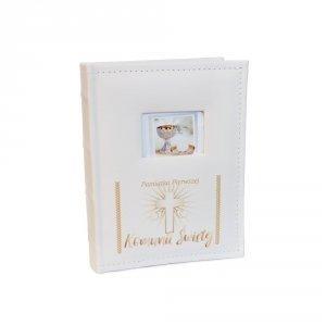 Album na zdjęcia w kolorze kremowym Pamiątka Pierwszej Komunii Świętej - 50 stron, rozmiar zdjęć 13x18