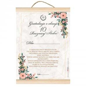 Dyplom gratulacje z okazji 10 rocznicy ślubu.  Z okazji rocznicy ślubu życzę Wam by Wasza miłość była zawsze tak gorąca jak przy składaniu przysięgi...