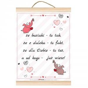 Dyplom dla zakochanych Że buziaki to tak...