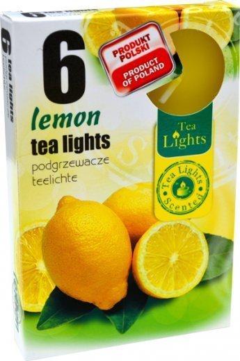 """PODGRZEWACZ 6 SZTUK TEA LIGHT """"Lemon"""""""