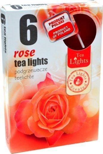 """PODGRZEWACZ 6 SZTUK TEA LIGHT """"Rose"""""""