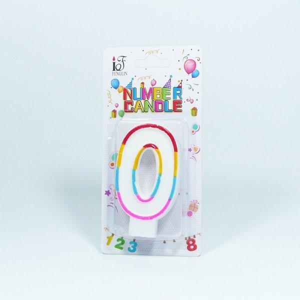 Świeczka urodzinowa '0 '