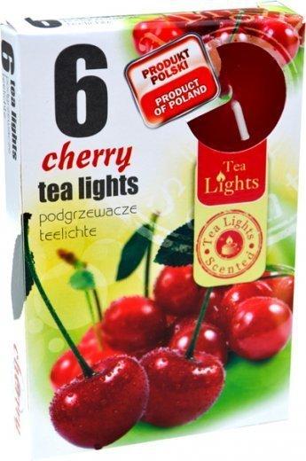 """PODGRZEWACZ 6 SZTUK TEA LIGHT """"Cherry"""""""