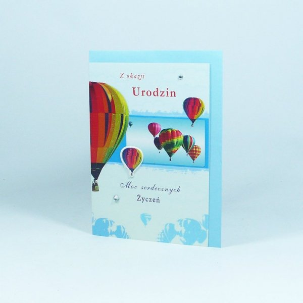 KARTKA URODZINOWA 3D Z OKAZJI URODZIN MOC.. (MW 001 012)