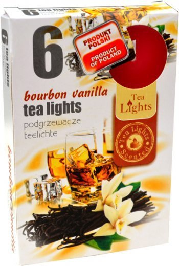 """PODGRZEWACZ 6 SZTUK TEA LIGHT """"Bourbon Vanilla"""""""