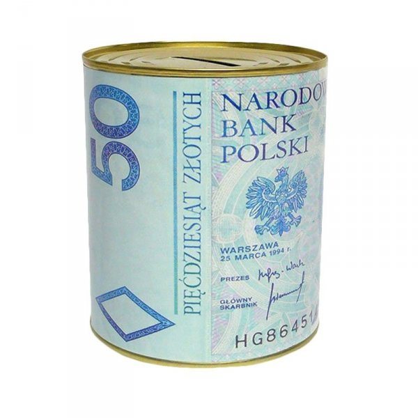 SKARBONKA METALOWA 50 PLN