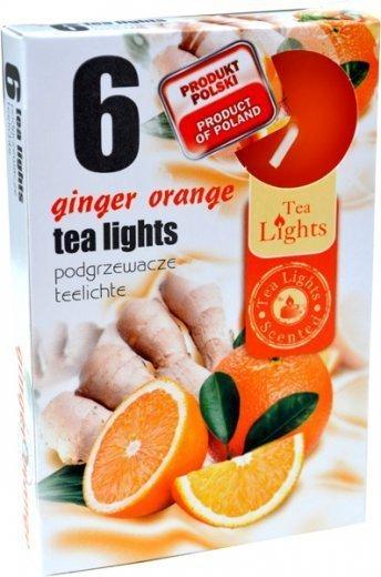 "PODGRZEWACZ 6 SZTUK TEA LIGHT ""Ginger Orange"""
