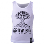 MEN'S TREC WEAR - GROW BIG - TANK TOP 004/BIAŁY