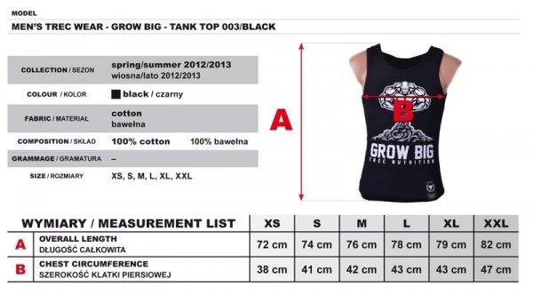 MEN'S TREC WEAR - GROW BIG - TANK TOP 004/BIAŁY